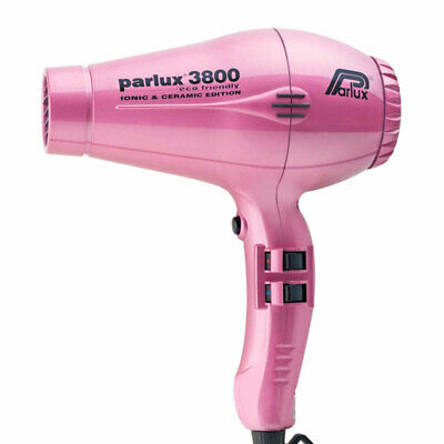 Parlux 3800 Eco Friendly Ionic & Ceramic Hair Dryer – Pink Salon Barber