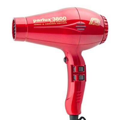 Parlux 3800 Eco Friendly Ionic & Ceramic Hair Dryer – Red Salon Barber
