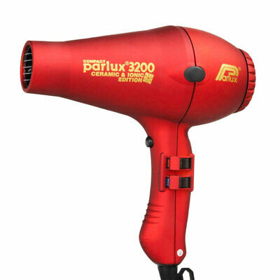 Parlux 3200 Ionic + Ceramic Edition Compact Hair Dryer - Red Salon Barber