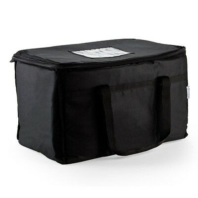 "Hot Food Warm Carry Transport 23X13X15"" Big Insulated Delivery Bag Travel Black"