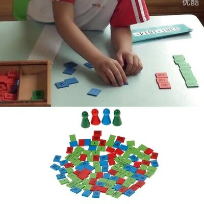 Montessori Stamps Game Math Toys Wooden Children Kid Early Teaching Toys Gift