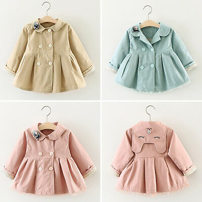 Baby Girl Toddler Kid Windbreaker Outwear Coat Tops Jacket Parka Overcoat Outfit