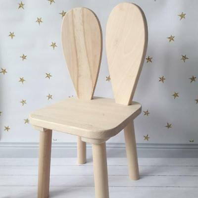 Handmade Beech Rabbit Kids Chair