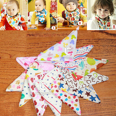 Cotton Baby Bibs Kids Head Scarf Towel Boy Girl Dribble Feeding Saliva Bandana