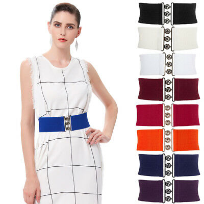 Women's Fashion Wide Elastic Stretch Cinch Waist Belt Waistband Corset Slim Belt