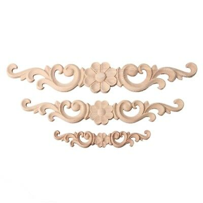 Woodcarving Decal European Style Floral Furniture Wood Carved Applique 1PC Decor