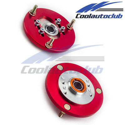 For BMW E36 318 320 323 325 328 Front Coilover Top Adjustable Camber Plates RED