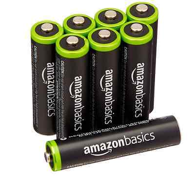 Lot de 8 Piles Rechargeables Ni-MH - Type AAA 1000 - Cycles à 800 mAh - 1,2V