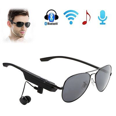 Smart Glasses Bluetooth Music Sunglasses Headphone Hands-Free for Ios Android PC