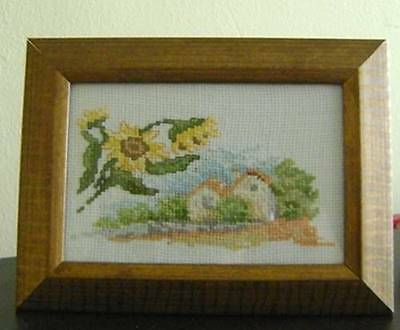 Seasons- completed  cross stitch small tapestries