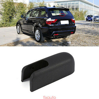 Black Rear Windshield Wiper Arm Nut Cover Cap For BMW X3 E83 2004-2010 fo12