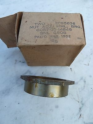 CCKW GMC G508 Nut Adj Wheel Brg Split axle only Chevrolet G085