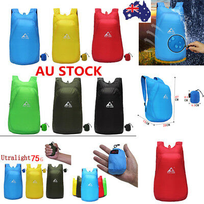 20L Foldable Backpack Waterproof Travel Bag Outdoor Hiking Camping Shoulder Bag