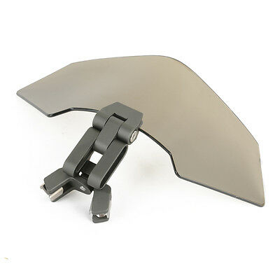 Universal Motorcycle Adjustable Windscreen Deflector Windshield Spoiler Gray
