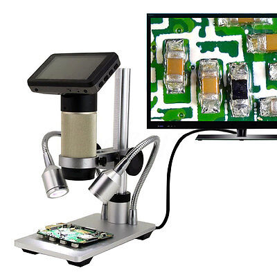 HDMI Full HD Digital Electric Industrial Inspection Microscope PCB Repair Camera