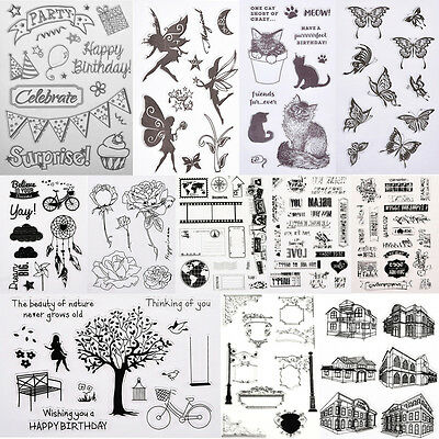 Cute Animals Transparent Rubber Clear Stamp Seal Sheet Cling Scrapbooking DIY