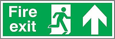 "Signs and Labels AMZFE047AGARP ""Fire Exit Running Man Arrow Up"" Safe Condition x"