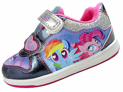 Girls BROUGHTON My Little Pony Glitter Trainer Soft Close Fastening Shoes