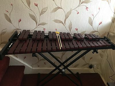 Xylophone- Stagg Xylo-set 37 HG 37 note xylophone with stand, mallets and bag