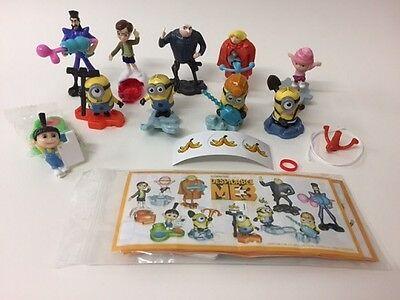 Kinder Surprise Minions 3 Despicable Me Toys Ltd Edition Set 10 BPZ 2017 RARE