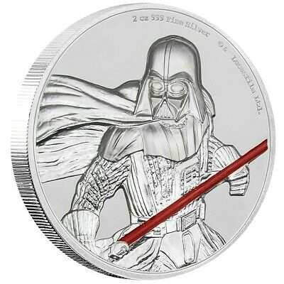 Niue 5 Dollar 2017 Darth Vader Star Wars Ultra High Relief 2 Oz