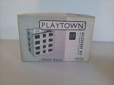 1950s Playcraft Playtown Stucco Walls Accessory Kit No 11. Complete. RARE
