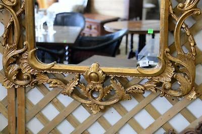 """French style gold framed mirror, 62"""" x 35""""."""
