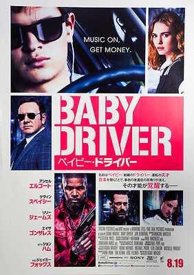 Baby Driver (2017) Kevin Spacey Japanese Chirashi Mini Movie Poster B5