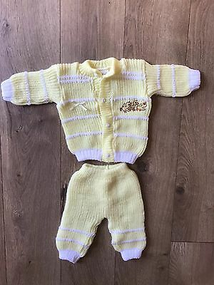 Vintage Abelitos Yellow Baby Knit Sweater And Pants