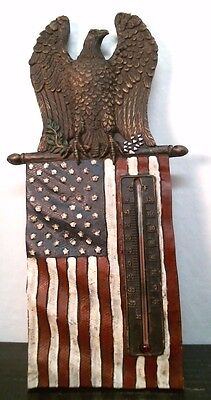 Patriotic Ceramic Eagle with American Flag Thermometer, 80142, FREE SHIPPING