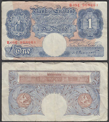 Great Britain 1 Pound 1940 (F) Banknote P-367 (B08E)