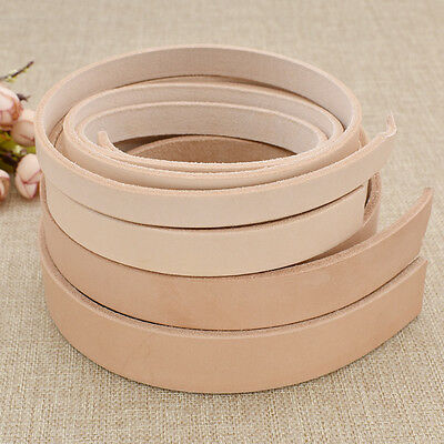 Blank Vegatable Tanned Leather Strip Strap Belt DIY Various Width Craft Handmade