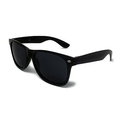 Classic BLACK Sunglasses Lens Mens Ladies 80s Womens Retro Vintage Fashion UV400