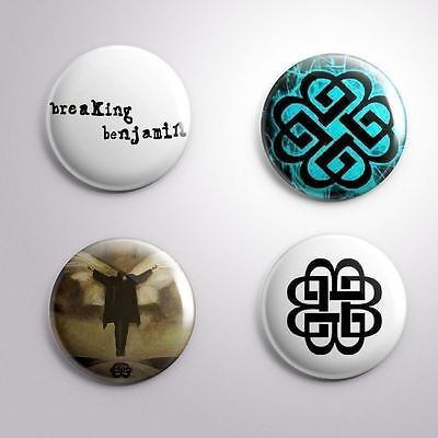 4 BREAKING BENJAMIN - Pinbacks Badge Button Pin 25mm 1''