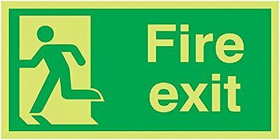 "Signs and Labels AMZFX04830MX ""Fire Exit Running Man Left"" Safe Condition Safety"