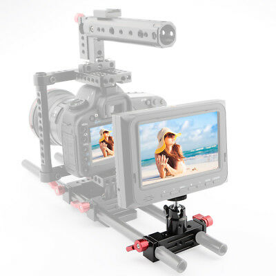 US CAMVATE DSLR Rod Clamp Clip Rail block Ball Head Mount 1/4 For 15mm Support
