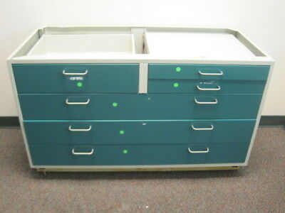 "Fisher Hamilton Metal Science Laboratory Multi Drawer 48"" Casework Base Cabinet"