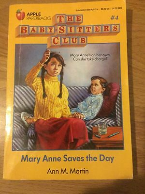 Baby-Sitters Club Book #4 Mary Ann Saves The Day By Ann M. Martin
