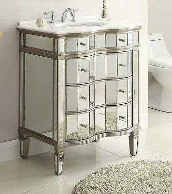 Benton Collection Asselin Vintage Silver Home Bathroom Sink Vanity K2274-36 36""