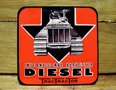 Set Of Four Coasters - International Harvester Diesel Trac Tractor