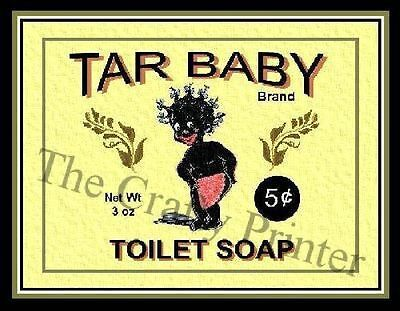 MAGNET - BLACK AMERICANA Soap Label - Baby Toilet Soap