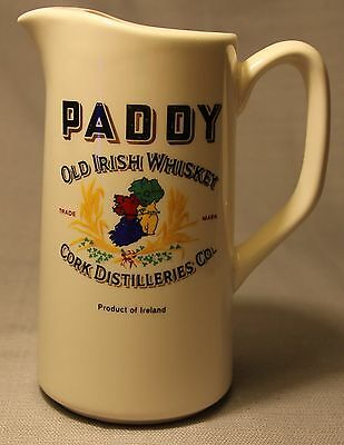 Vtg Carrigdhoun Pottery Paddy Old Irish Whiskey Mug Pitcher Cork Distilleries Co