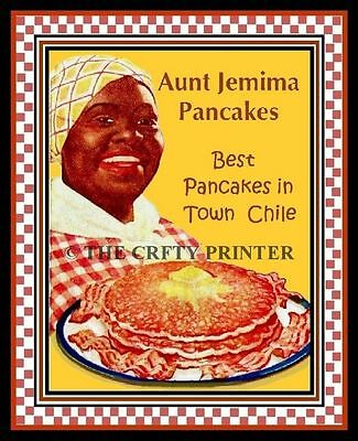 """Black Americana PRINT - AUNT JEMIMA PANCAKES - """"Best in Town Chile"""" - 11x14"""