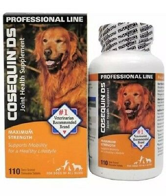 Cosequin DS Maximum Strength Joint Supplement for Dogs 110 TABLETS EXP 10/2022