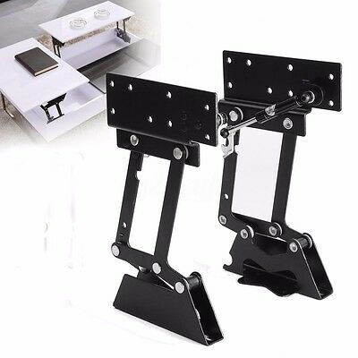 2x Lift Up Top Coffee Table Mechanism Hardware Furniture Fitting Hydraulic Hinge