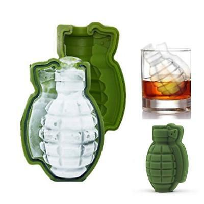 Grenade Shape 3D Ice Cube Mold Maker Bar Party Silicone Trays Mold  Tool Gift BS