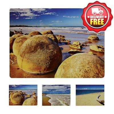 Wilkie Brothers Placemats 6pcs - Beach Coast | Cork back with easy wipe clean