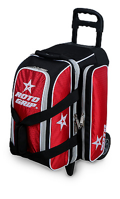 0ab8872e2c ROTO GRIP 2 Ball Roller Bowling Bag with Wheels Color Black Red NEW ...