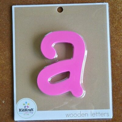 "Kid Kraft Wooden Wall Letter Lowercase ""a"" Pink"