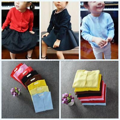 Toddler Baby Boy Girl Long Sleeve Knitted Sweater Outerwear Cardigan Blouse Tops